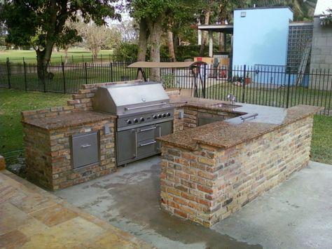 gartenideen outdoor küche außenküche selber bauen   garden ideas ...