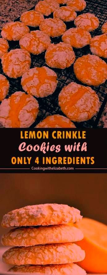 #cookieslemon #ingredients #delicious #crinkle #cookies #recipe #lemon #these #make #easy #just #cool #whip #best #cakeThese Lemon Crinkle cookies are delicious! Just 4 ingredients to make this easy lemon cool whip cookies recipe. The Best Cake mix cookies.#LemonThese Lemon Crinkle cookies are delicious! Just 4 ingredients to make this easy lemon cool whip cookies recipe. The Best Cake mix cookies.#Lemon  This recipe is for chewy quick and easy lemon cake mix cookies that absolutely every...