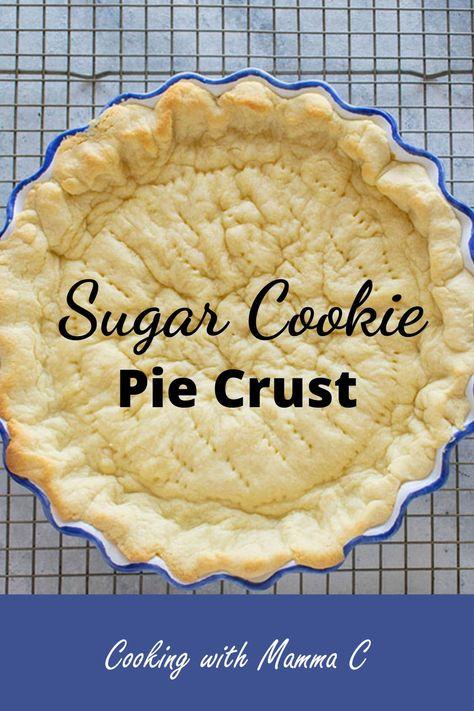 Cookie Dough Pie, Pie Crust Cookies, Easy Pie Crust, Pie Crust Recipes, Pie Dough Recipe Easy, Sweet Pie Crust Recipe, Crisco Pie Crust Recipe, Apple Pie Crust, Baked Pie Crust