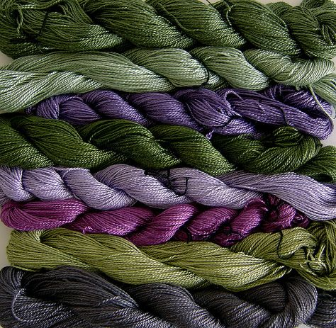 Hand-dyed silk for the 'Rita' Commission. by abalonee, via Flickr