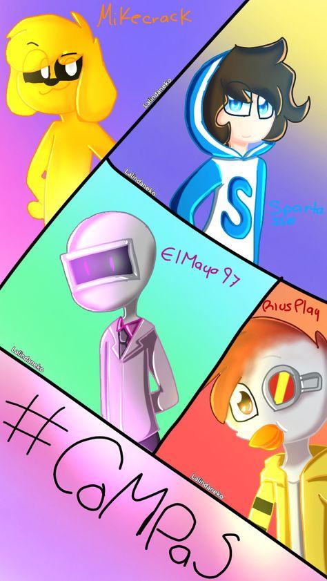 47 Ideas De Los Compas Dibujos De Youtubers Minecraft Animado Dibujos Kawaii