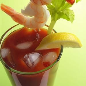 Bloody Mary with Shrimp Cocktail Recipe