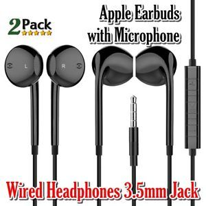 Apple Earbuds Haruion Earphones With Microphone And Remote Control Wired Headphones 3 5mm Jack Ear Buds For For Iphone Ipa With Images Earbuds Wired Headphones Headphones