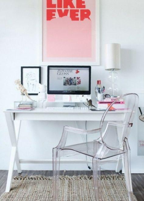 Großartig Feine Home Office Ideen Elegant Acryl Weiß Schreibtisch Modern | Home Office  | Pinterest | Desk Space, Office Interiors And Desks