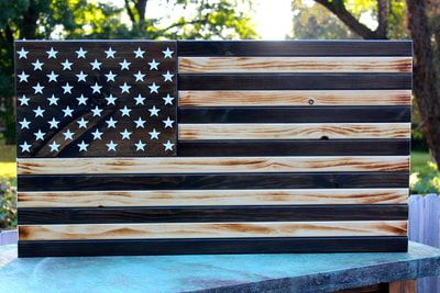 Large Subdued American Flag With 50 Stars American Flag Wood Wooden American Flag Rustic Flags