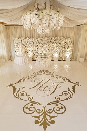 This All White Wedding Wowed From Start To Finish With A White Floral Filled Ceremony That Fea All White Wedding Dance Floor Wedding White Weddings Reception
