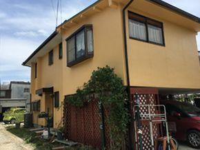 花粉等の汚れが目立たない色に塗装しました 姫路市 K様邸 外壁塗装