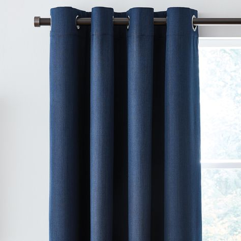Pin On Bedroom Colors, Solar Navy Blackout Eyelet Curtains