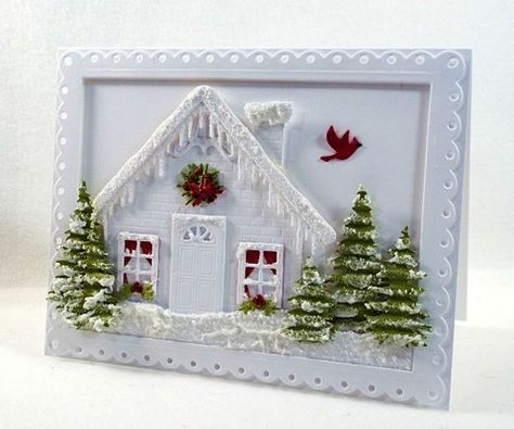 Card Making Ideas | Paper Crafts | Handmade Greeting Cards | Christmas Cards | Scene Cards.    Click on the picture if you would like to see how I made this card.