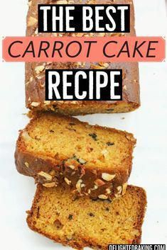 Simply the best and easiest egg free carrot cake recipe. With ingredientslike whole wheat flour, this loaf cake is a healthy cake recipe ; perfect for breakfast and quick snack. #carrotcake #carrotcakerecipe
