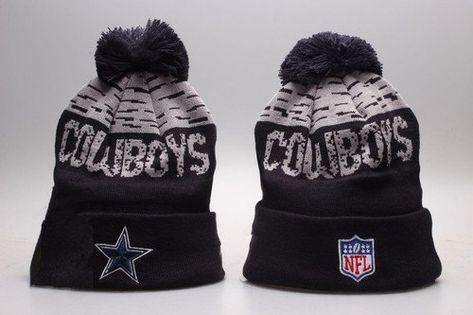 Dallas Cowboys Winter Outdoor Sports Warm Knit Beanie Hat Pom Pom