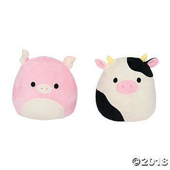 Squishmallows Plush Peter The Pig Connor The Cow Pig Plush Plush Pig