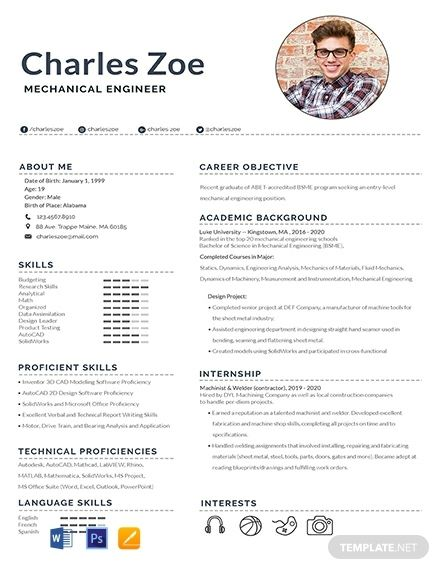 Mechanical Engineer Fresher Resume Cv Template Word Psd Apple Pages Engineering Resume Templates Mechanical Engineer Resume Engineering Resume