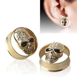 Double Flare 316L Surgical Steel Ear Tunnel Stretcher CHOOSE SINGLE OR PAIR