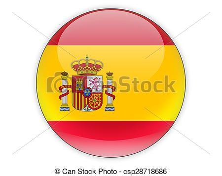 Drapeau Rond drapeau, rond, espagne, icône - csp28718686 | spain, españa | pinterest