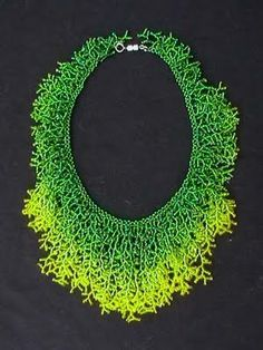 Coralling stitch using seed beads, Ombre fringe