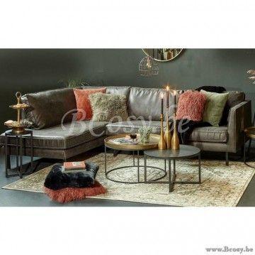 Hoekbank Leer Lounge.Lifestyle Perugia Leren Hoekbank Groen Perugia Lounge Sofa Links