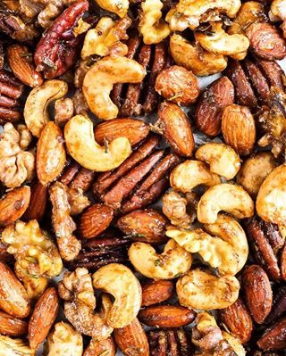 Sweet And Spicy Mixed Nuts Recipe Spiced Nuts Healthy Eating Snacks Sweet And Spicy