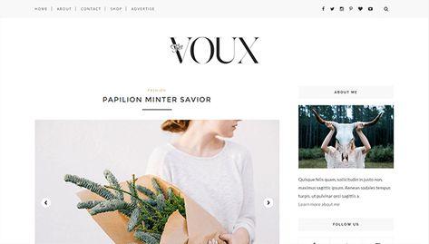 Voux Minimal Clean Responsive Blogger Template