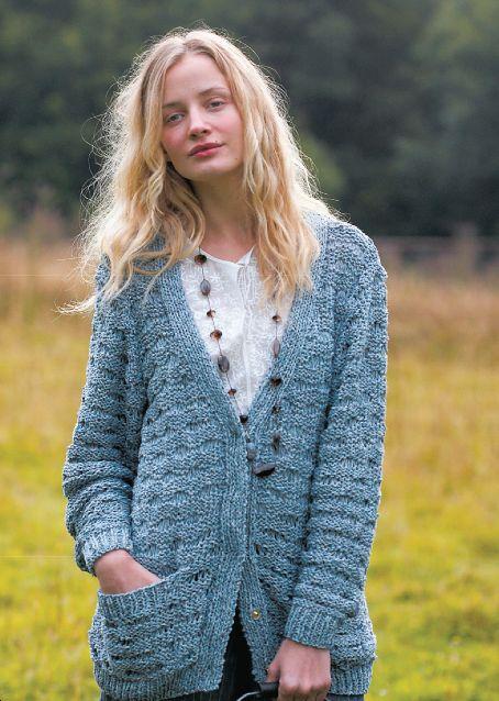 Free Knitting Pattern - Women\'s Cardigans: Textured Cardigan ...