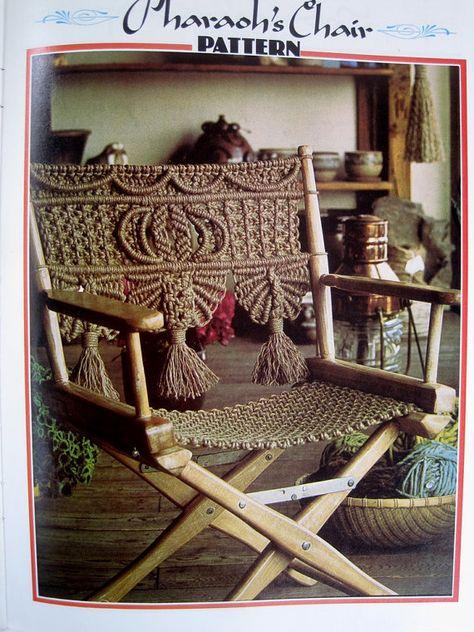 Macrame Directors Chair Pattern - Macrame Furniture / Curtain DIY Craft Book