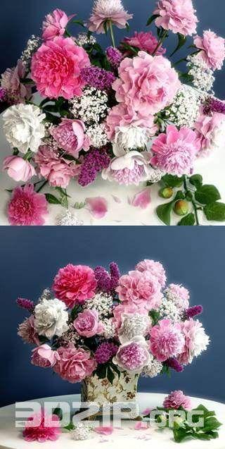3d Flower Vase Model 47 Free Download Flower Arrangements Flower Vases Flowers