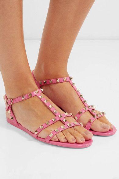 pink valentino rockstud sandals