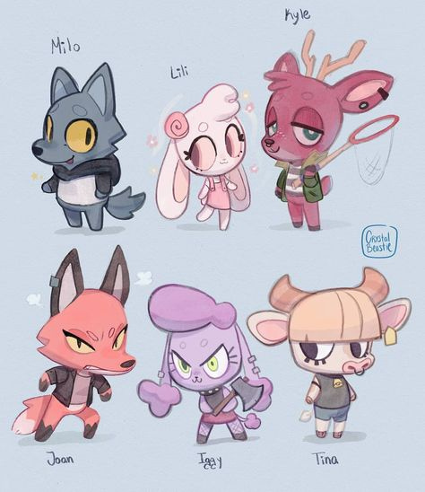 Create your own chibi copy in a game and look how it has perfectly replaced our reality in this Animal Crossing fan art collection. Animal Crossing Cats, Animal Crossing Villagers, Animal Logo, My Animal, Tarot, Cat Character, Character Design Inspiration, Creature Design, Cute Art