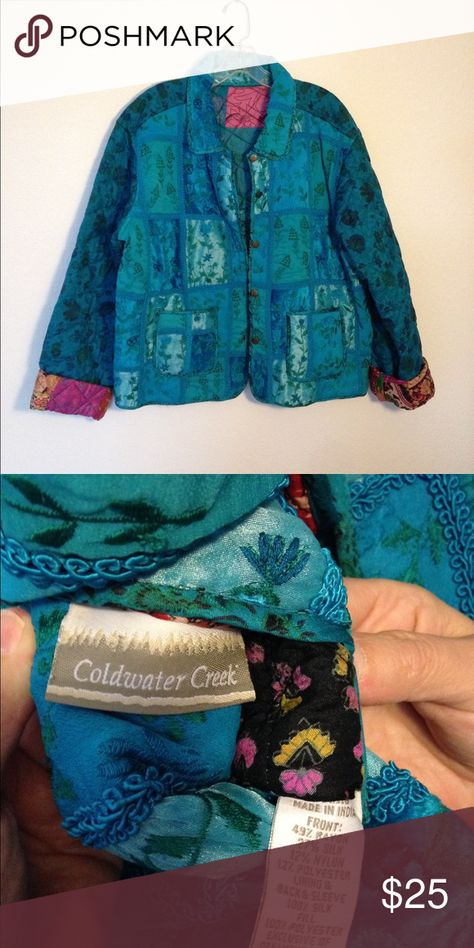 Reversible Quilted Jacket Reversible quilted Jacket in flawless condition. Coldwater Creek Jackets & Coats
