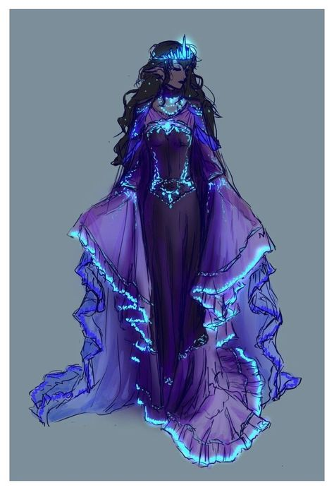 Fantasy Character Design, Character Design Inspiration, Character Art, Character Makeup, Dress Drawing, Drawing Clothes, Outfit Drawings, Fantasy Gowns, Fantasy Art