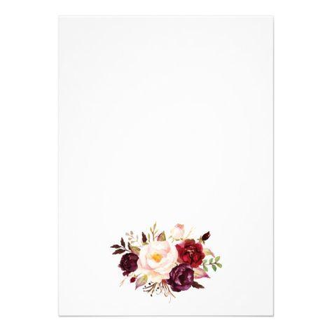 Shop Rustic Floral Wedding Invitation created by Precious_Presents.