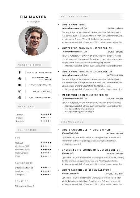 Premium Bewerbungsmuster 2019 Resume Templates Click Picture For More Lebenslauf Vorlagen Resume Resumeexampl Resume Templates Resume Resume Design