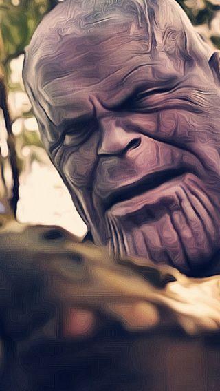 Avengers Infinity War Thanos Gauntlet In 320x568 Resolution Avengers Infinity War Thanos Face Avengers