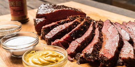 Not much beats Traeger corned beef, and this recipe for smoked corn beef brisket will top any other one. Way better than braised and boiled beef, we put a little twist that is flavorful, tender, juicy, and delicious. We take you through how to smoke a BBQ brisket, how long to smoke it for, and the best way to do it.