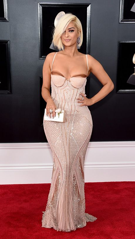Grammys' Red Carpet: Bebe Rexha in La Perla