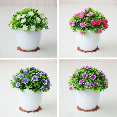 Artificial Flowers Bonsai Simulation Potted Plant Home Garden Outdoor Decoration Fashion Home Garden Homedcor Floraldcor Ebay Link Home Decor In 2019