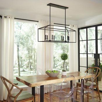 Perryton Linear Suspension Dining Room Light Fixtures Dining