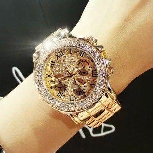 Barato 2019 Nuevos Relojes De Diamantes De Cristal De Lujo De Alta Calidad Para Mujer Reloj De A Diamond Watches Women Gold Watches Women Womens Watches Luxury