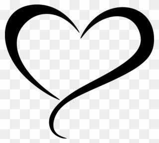Clipart Abstract Heart 5 Decorative Scroll Clip Art Heart Shape Line Art Png Download Heart Clip Art Clip Art Bible Art Journaling