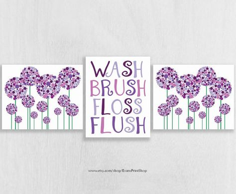 canvas purple bathroom decor set of 3 purple bathroom wall art rh pinterest com au