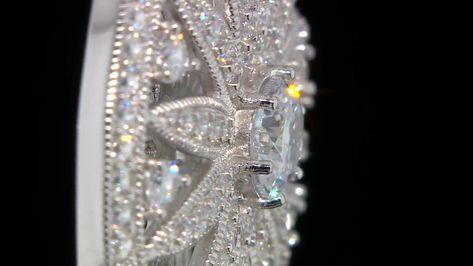 Abiti Da Sera Qvc.Diamonique 3ct Tw Sundial Pendant 45cm Chain Sterling Silver