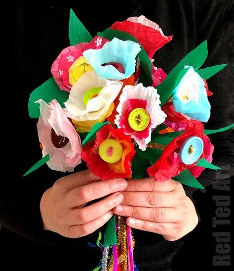 Tissue Paper Flower Bouquet Paper Flowers Paper Flowers For