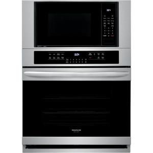 Frigidaire Gallery 30 In Electric True Convection Wall Oven With Built In Microwave In Stainless Steel Fgmc3066uf The Home Depot Wall Oven Convection Wall Oven Frigidaire Gallery