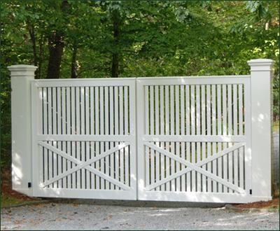 Cellular Vinyl Yorktown Entrance Gate Entrance Gates Wood Gates