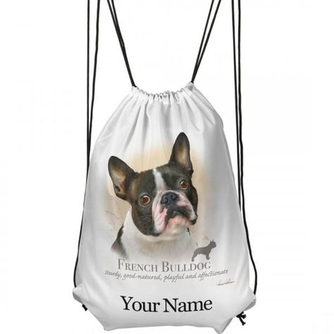 GIFT /& NAMED DANCE BAG SWIMMING PUPPY PERSONALISED GYM FRENCH BULLDOG