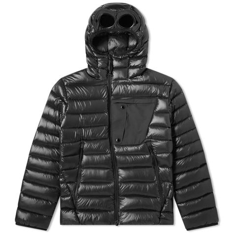 C.P. COMPANY DOWN HOODED GOGGLE JACKET
