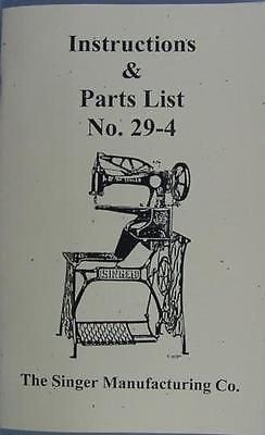Singer 29 4 Sewing Machine Instruction And Parts Manual Sewing Machine Instructions Sewing Machine Sewing