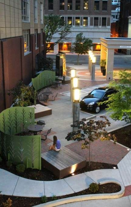 Pocket Park Seating 58 Ideas Seating Pocket Park Parking Design Landscape Design