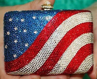 presenting top-rated official unique design Details about KATHRINE BAUMANN SIGNED USA FLAG STARS PURSE ...