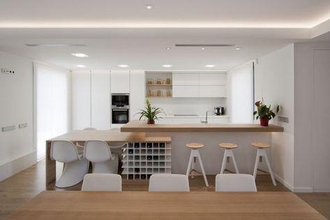 Mesa comedor, botellero y barra cocina Cuines Pinterest - kchenfronten modern